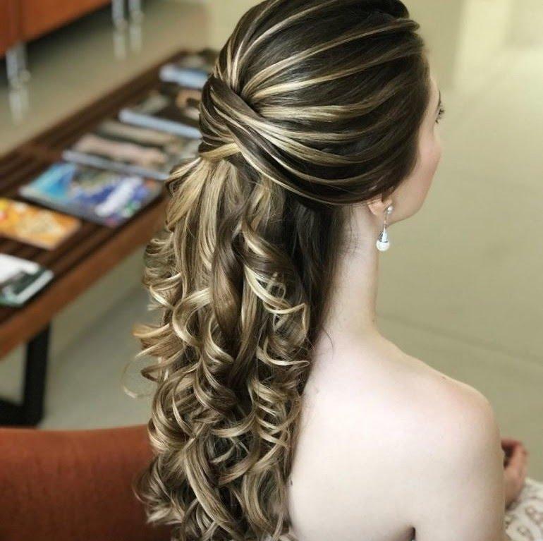 Penteados para noivas com cabelos longos